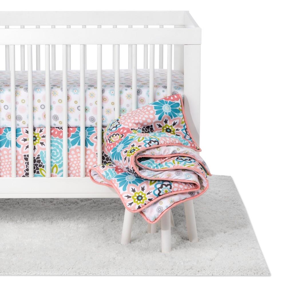 Image of Trend Lab Waverly Baby 5pc Crib Bedding Set Blooms - Pink