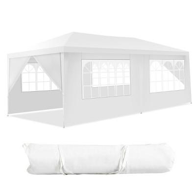 Costway 10'x20' Canopy Tent Heavy Duty Wedding Party Tent 6 Sidewalls W/Carry Bag
