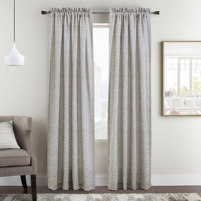 Set of 2 Bellevue Woven Jacquard Light Filtering Window Curtain Panels - Habitat