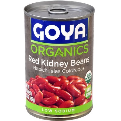 Beans: Goya Organics Red Kidney Beans Canned