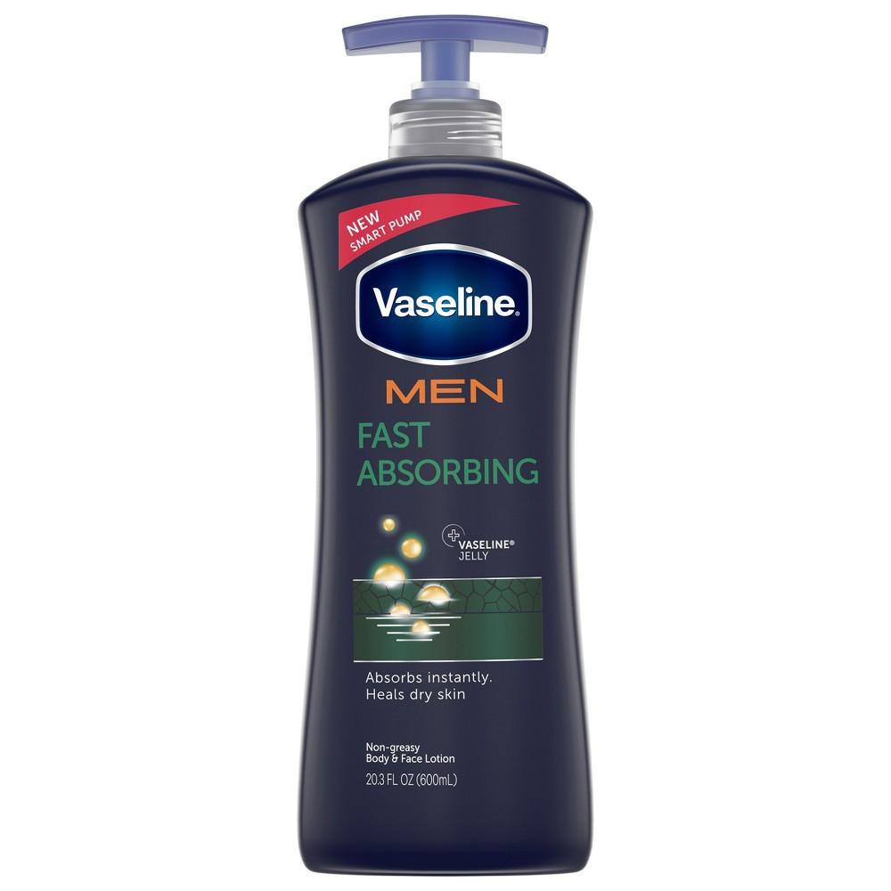Vaseline Men Healing Moisture Fast Absorbing Body & Face Lotion 20.3 oz