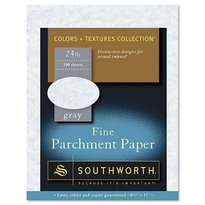 Southworth Parchment Specialty Paper Gray 24 lb. 8 1/2 x 11 100/Box P974CK336