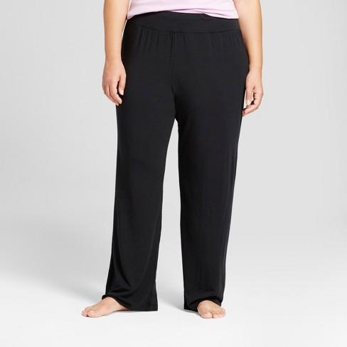 0ff1f6023bc Women s Plus Size Pajama Pants - Ava   Viv™ Black 3X   Target