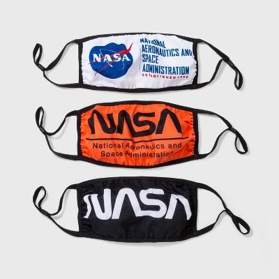 3pk Adult NASA Cloth Face Mask - One Size