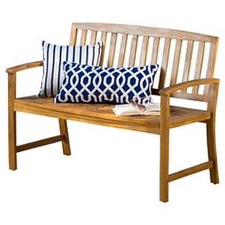 Loja Acacia Wood Bench - Christopher Knight Home