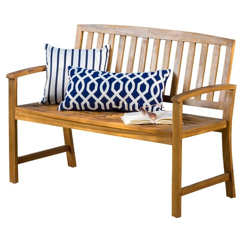 Fabulous Loja Acacia Wood Bench Brown Christopher Knight Home Machost Co Dining Chair Design Ideas Machostcouk