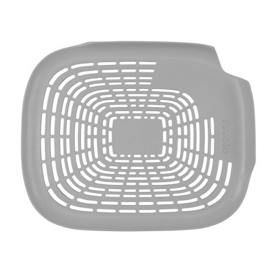 Tovolo Prep N' Rinse Flat Colander Oyster Gray