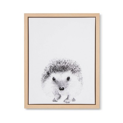 11x14 Framed Canvas Hedgehog - Cloud Island™