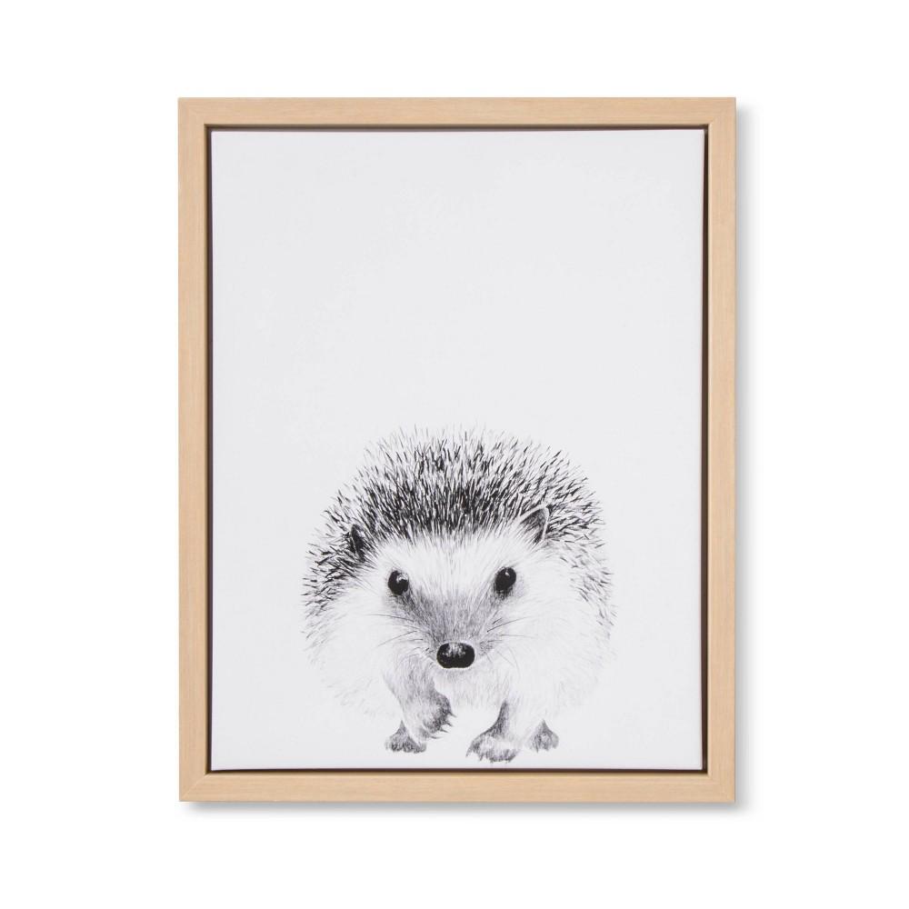 Image of 11x14 Framed Canvas Hedgehog - Cloud Island
