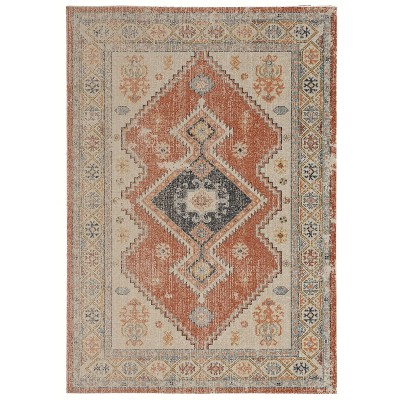 Great Zero Lofton Rug Off White/Red - Linon