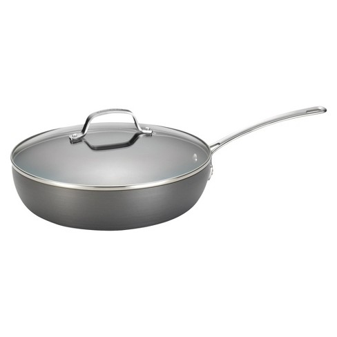 Circulon Genesis 12 Inch Hard-Anodized Covered Deep Skillet - Gray - image 1 of 2