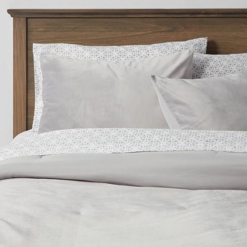 Vinton Velvet Comforter Set With Sheets, Target Gray Bedding Sets
