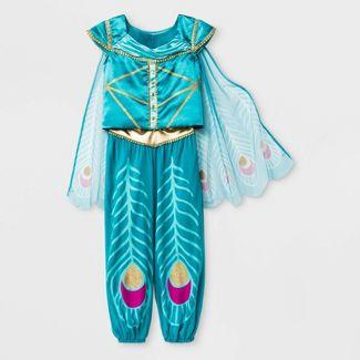 Girls' Aladdin 3pc Top & Bottom Set - Turquoise XL