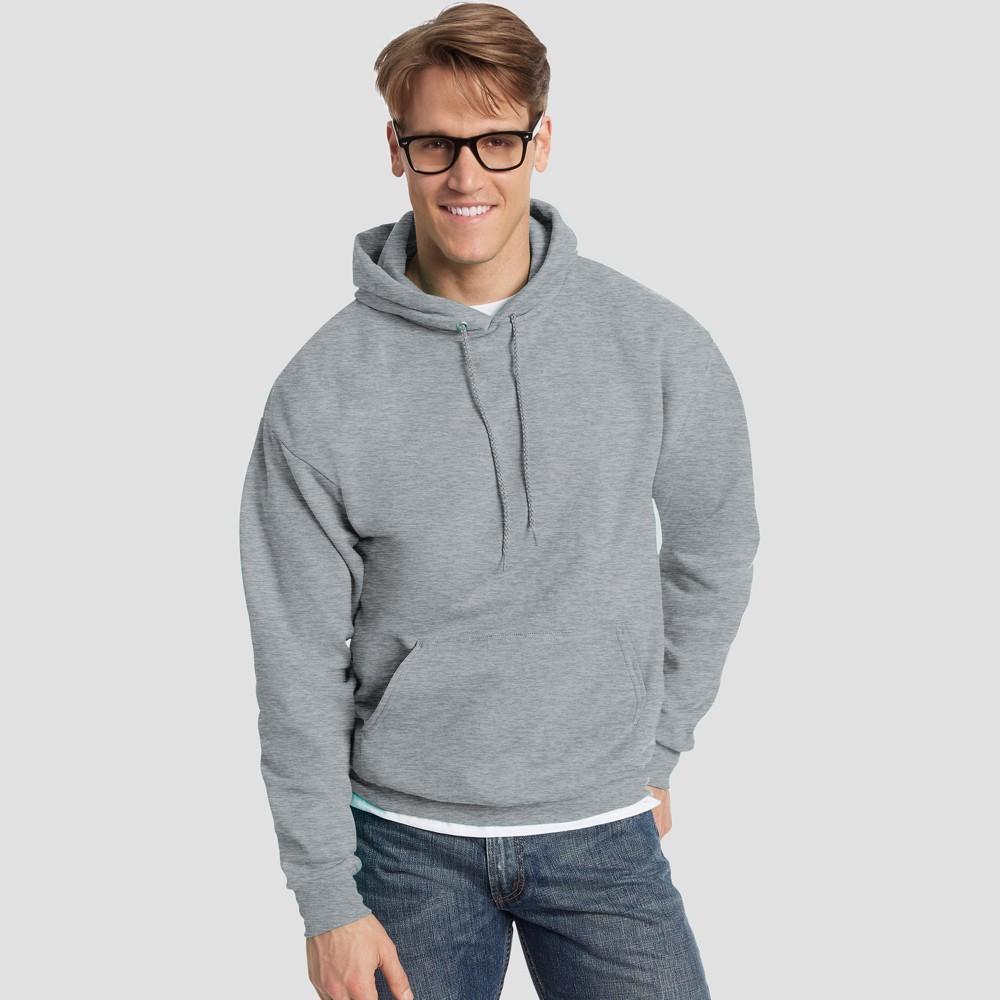 Hanes Men's EcoSmart Fleece Pullover Hooded Sweatshirt - Light Steel L