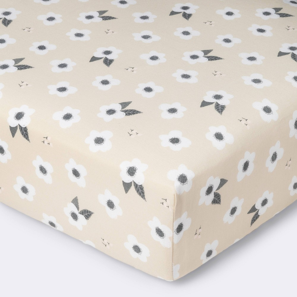 Fitted Crib Sheet Spring Floral Cloud Island 8482