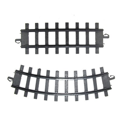 Northlight Club Pack of 12 Black Replacement Train Set Track Pieces 10""