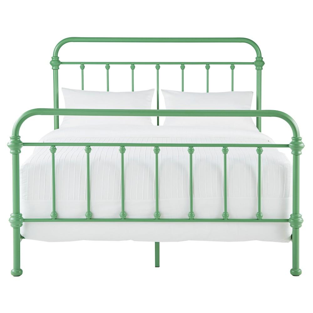 Tilden Ii Vintage Metal Bed - Full - Spring Green - Inspire Q