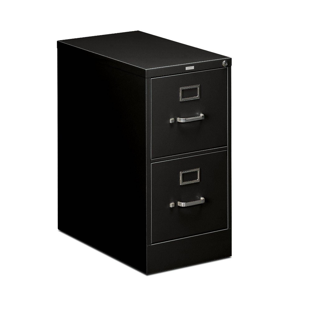Image of 2 Drawer Full Suspension Letter Filing Cabinet Black - HON