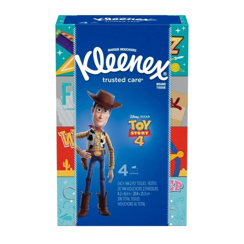 Kleenex Toy Story 4 Trusted Care Facial Tissue - 4pk/144ct - image 1 of 6