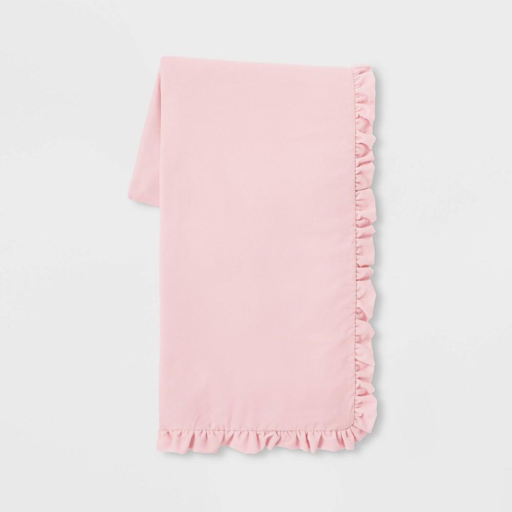 "Image of ""50"""" x 86"""" Velvet Throw Blanket Pink - Simply Shabby Chic"""