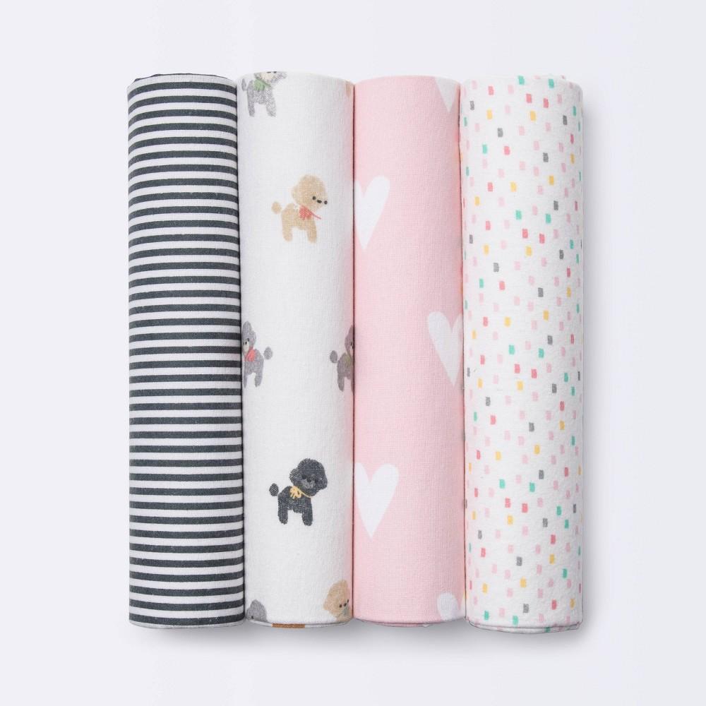 Flannel Baby Blankets Puppies Cloud Island 8482 4pk