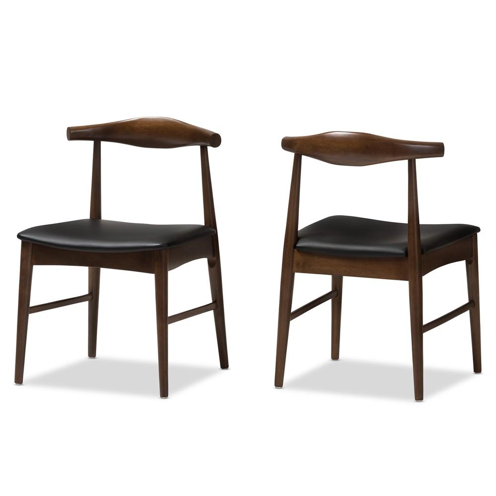 Admirable Set Of 2 Winton Mid Century Modern Walnut Wood Dining Chairs Creativecarmelina Interior Chair Design Creativecarmelinacom