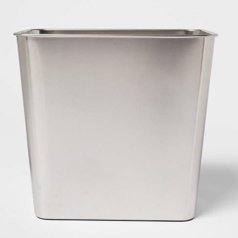 Stainless Steel Bathroom Wastebasket