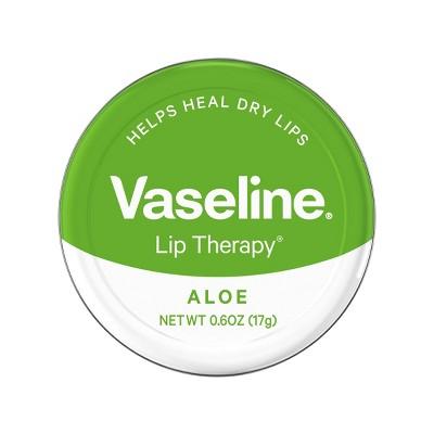 Vaseline Lip Therapy Aloe Vera Lip Balm Tin - 0.6oz