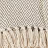 "Light Brown Sevan Soft Cotton Diamond Weave Throw Blankets (50""x60"") - Saro Lifestyle - image 3 of 3"