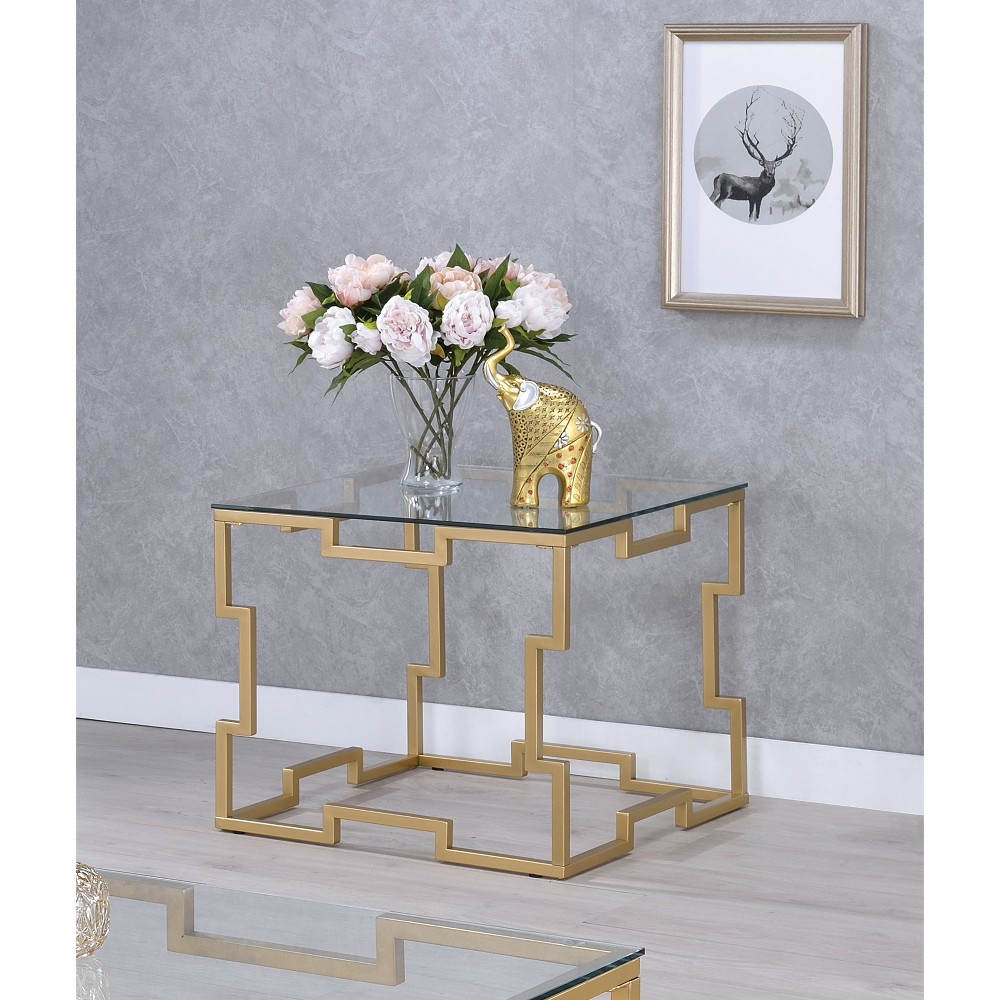 Iohomes Hallenbeck Contemporary End Table Gold - Homes: Inside + Out