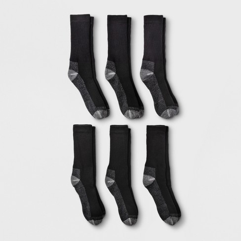 Fruit of the Loom Men's 6pk Work Gear Open Pack Crew Socks - 6-12 - image 1 of 4