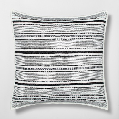 Textured Stripe Pillow Sham Railroad Gray - Hearth & Hand™ with Magnolia