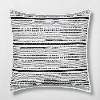 Euro Pillow Sham Textured Stripe Railroad Gray - Hearth & Hand™ with Magnolia