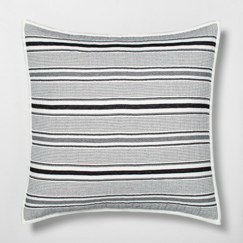Euro Textured Stripe Pillow Sham Railroad Gray Hearth Hand With Magnolia Target