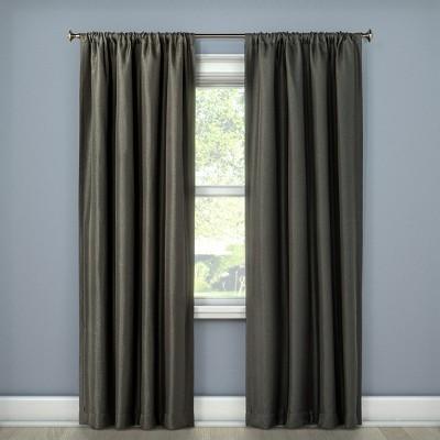 Lorcan Light Blocking Curtain Panel Dark Gray (52 x108 )- Eclipse™