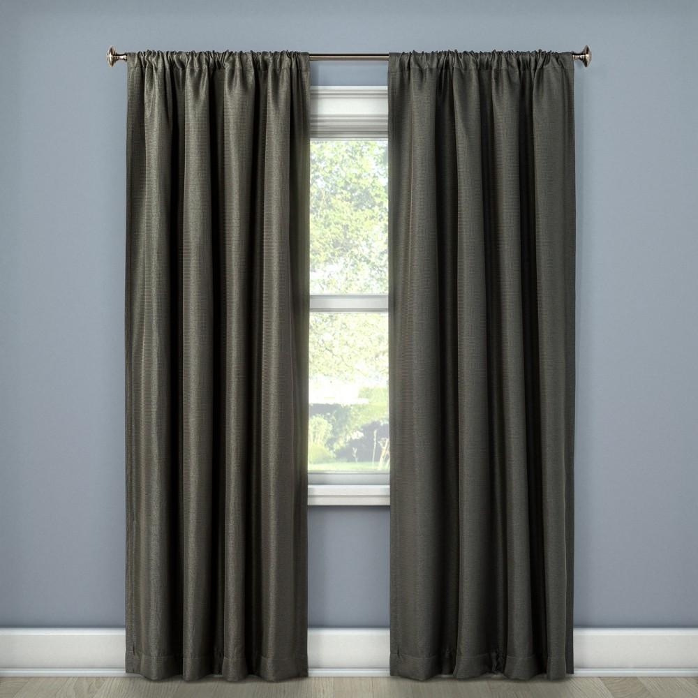 Lorcan Light Blocking Curtain Panel Dark Gray (52