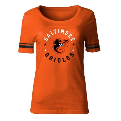 MLB Baltimore Orioles Women's Poly Rayon Fashion T-Shirt