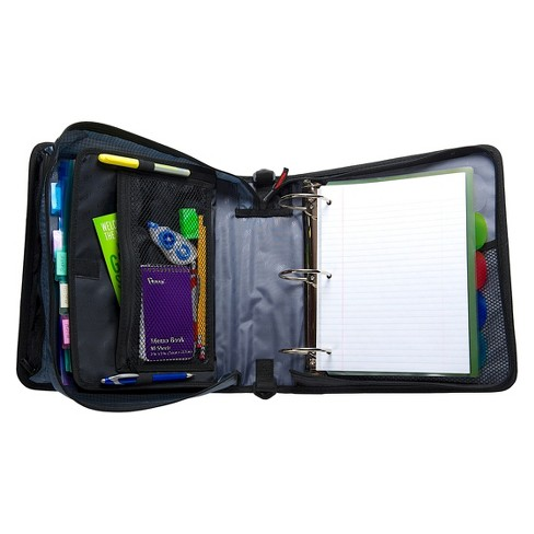 case it 3 zipper binder with internal pockets 8 5 x 11 target