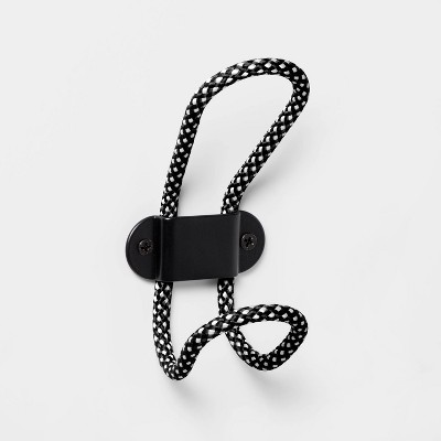 Fabric Wrapped Decorative Hooks Black/White - Room Essentials™