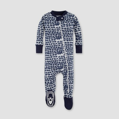 Burt's Bees Baby® Boys' Organic Cotton Clustered Star Sleeper - Midnight 0-3M