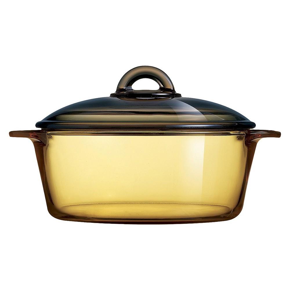 Luminarc Vitro 2.1 Qt. Amber Cov'd Casserole, Medium Clear