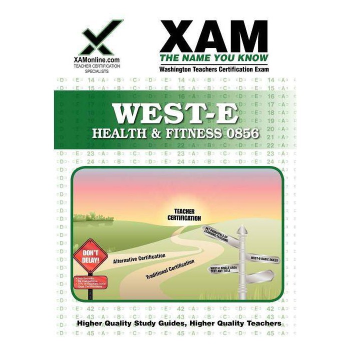 West-E Health & Fitness 0856 Teacher Certification Test Prep Study Guide - (Xam West-E/Praxis II) - image 1 of 1