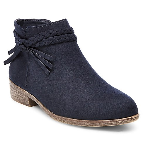 Girls' Nyssa Braided Straps Ankle Boots - Cat & Jack™ Navy 5 - image 1 of 3