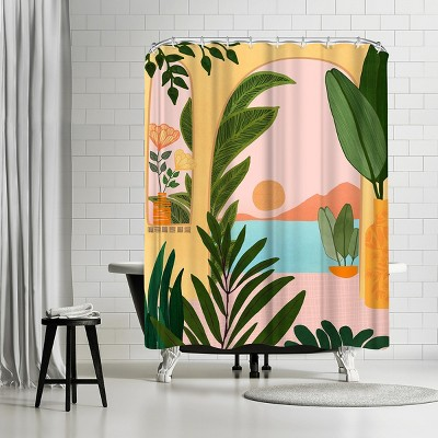 "Americanflat Ocean View 2 by Modern Tropical 71"" x 74"" Shower Curtain"