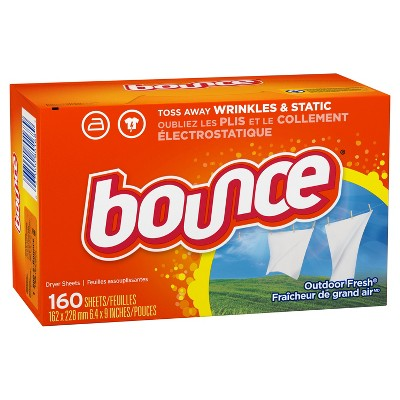 Bounce Outdoor Fresh Fabric Softener Dryer Sheets 160 ct