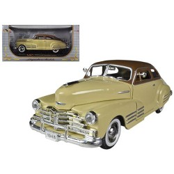 1948 Chevy Aerosedan Fleetline Blue 1/24 Diecast Model Car