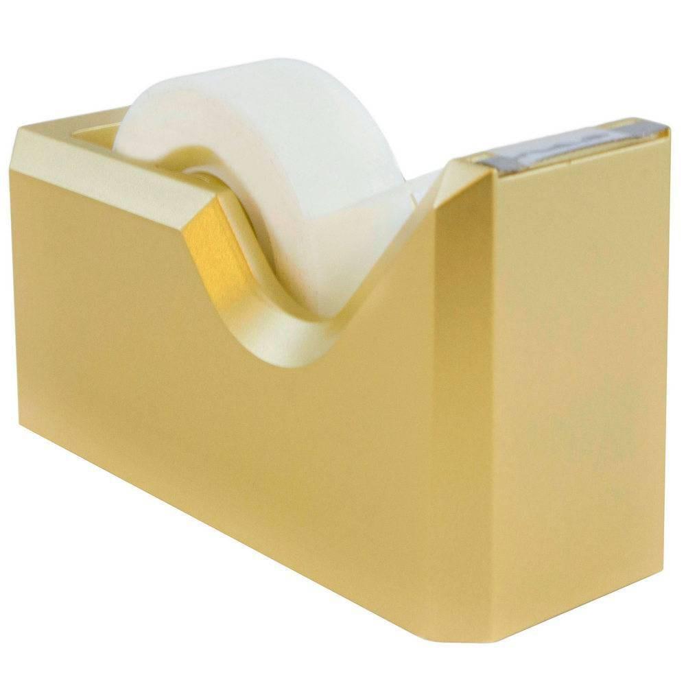 Jam Paper Colorful Desk Tape Dispensers Gold