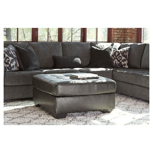 Owensbe Accent Oversized Ottoman Charcoal Signature Design By Ashley Target