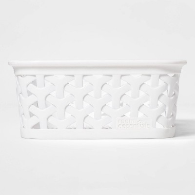 Y Weave Mini Cube Storage Basket White - Room Essentials™