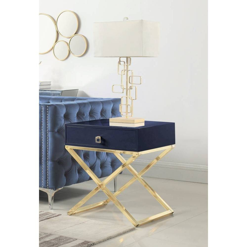 Rochester Side Table Navy - Chic Home Design was $359.99 now $215.99 (40.0% off)